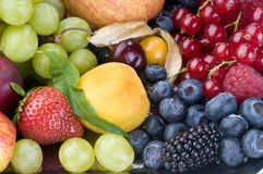 Berry-fruit platter close-up Royalty Free Stock Image