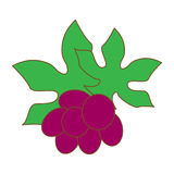 Berry fruit. Simple berry fruit icon vector Stock Photography