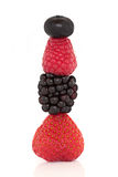 Berry Fruit Stack Royalty Free Stock Photography