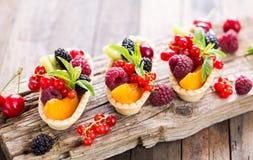 Berry fruit tarts Stock Photo