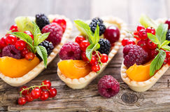 Berry fruit tarts Stock Images