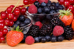 Berry fruits background Stock Images