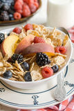Berry fruits and corn flakes Stock Image