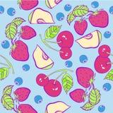 Berry fruits  pattern   illustration Stock Photography