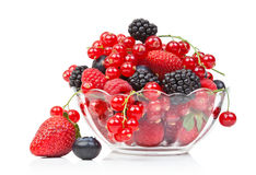 Berry the glass container Stock Images