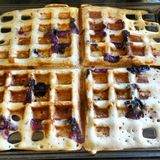 Berry good waffles Royalty Free Stock Photo