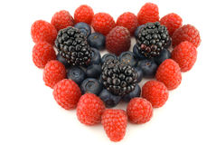 Berry heart Royalty Free Stock Photography