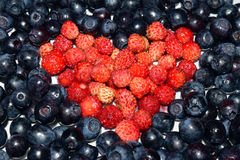 Berry heart Royalty Free Stock Images