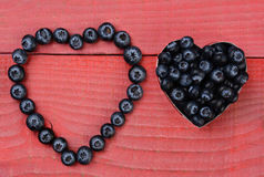 Berry Hearts Fotografía de archivo