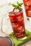 Berry Hibiscus Ice Tea de restauración frío Foto de archivo libre de regalías