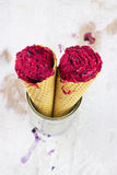 Berry ice with cinnamon and yogurt Royalty Free Stock Images