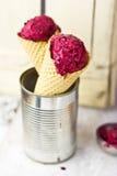 Berry ice with cinnamon and yogurt Stock Photo
