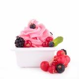 Berry ice cream, frozen yogurt Stock Photography