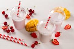 Berry  and ice cream milkshake (smoothie) Royalty Free Stock Photos