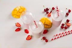 Berry  and ice cream milkshake (smoothie) Royalty Free Stock Photography