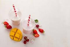 Berry  and ice cream milkshake (smoothie) Stock Photography