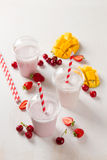 Berry  and ice cream milkshake (smoothie) Royalty Free Stock Photo