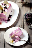 Berry ice cream and white chocolate terrine Stock Photography