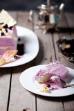 Berry ice cream and white chocolate terrine Royalty Free Stock Images