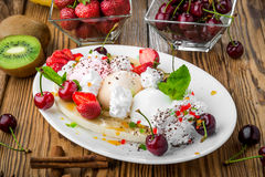 Berry ice creams Royalty Free Stock Photography