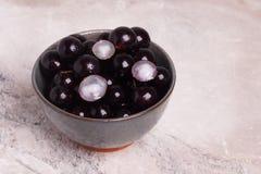 Berry Jaboticaba in ciotola Fotografia Stock