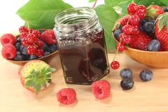 Berry jam Royalty Free Stock Photo