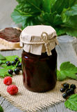 Berry jam with black currants Royalty Free Stock Photos