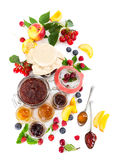 Berry jam in glass jars Royalty Free Stock Photos