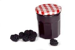 Berry jam isolated on white Royalty Free Stock Image