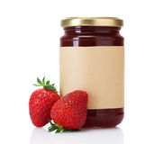 Berry jam and strawberry Stock Images