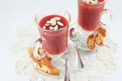 Berry jelly dessert Stock Image
