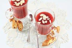 Berry jelly dessert Royalty Free Stock Photos