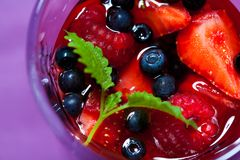 Berry jelly in a glass Royalty Free Stock Photo