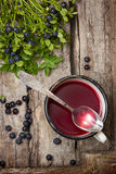 Berry jelly Stock Photography