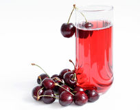 Berry juice. In glass isolated on white background royalty free stock photos