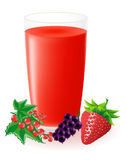 Berry juice vector illustration Stock Photography