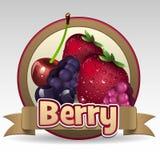 Berry label. Illustration of berry label logo Stock Photo