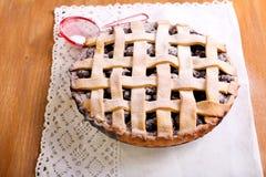 Berry lattice pie Stock Photos