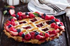 Berry lattice pie Stock Photo
