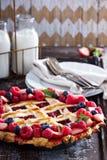 Berry lattice pie Royalty Free Stock Photography