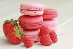 Berry macarons Stock Images