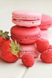 Berry macarons Stock Photos