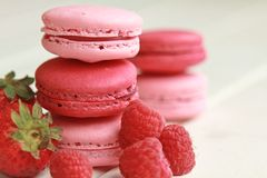 Berry macarons Royalty Free Stock Image
