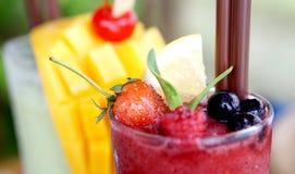 Berry and mango smoothies Stock Photo