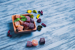 Berry marmalade jelly cubes Royalty Free Stock Photo