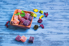 Berry marmalade jelly cubes Royalty Free Stock Image