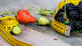 Berry and meter Royalty Free Stock Images