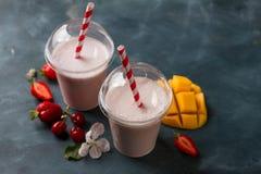 Berry milkshake (smoothie) Royalty Free Stock Images