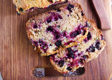 Berry, mint and spelt flour teacake, Stock Image
