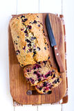 Berry, mint and spelt flour teacake Stock Photos